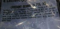 Croissant beurre 24,7% X6 - Ingredienti - fr
