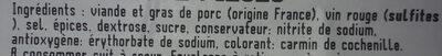 Saucisson a cuire 2 pièces - Ingredients