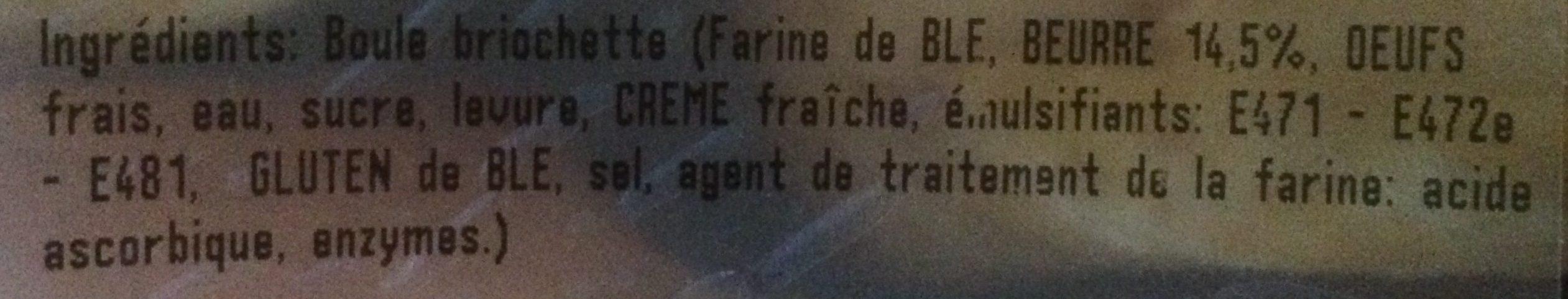 Briochettes au Beurre - Ingredienti - fr