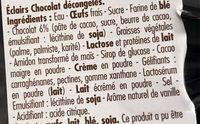 Éclairs Chocolat Décongelés - Ingrédients