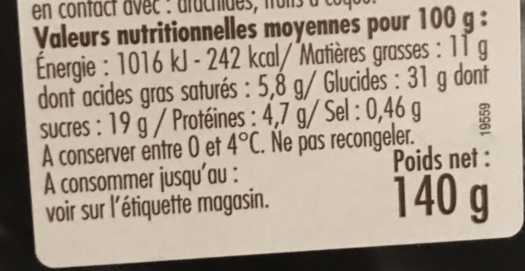 Éclairs Chocolat Décongelés - Informations nutritionnelles