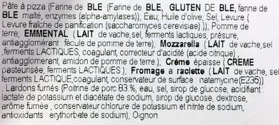Pizza Montagnarde - Ingrédients