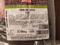 Pain de cotes cuit - Voedingswaarden - fr
