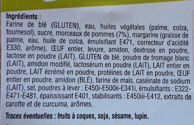 Beignets roulés au pommes - Ingrédients