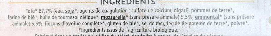 Sticks fromage - Ingrédients - en
