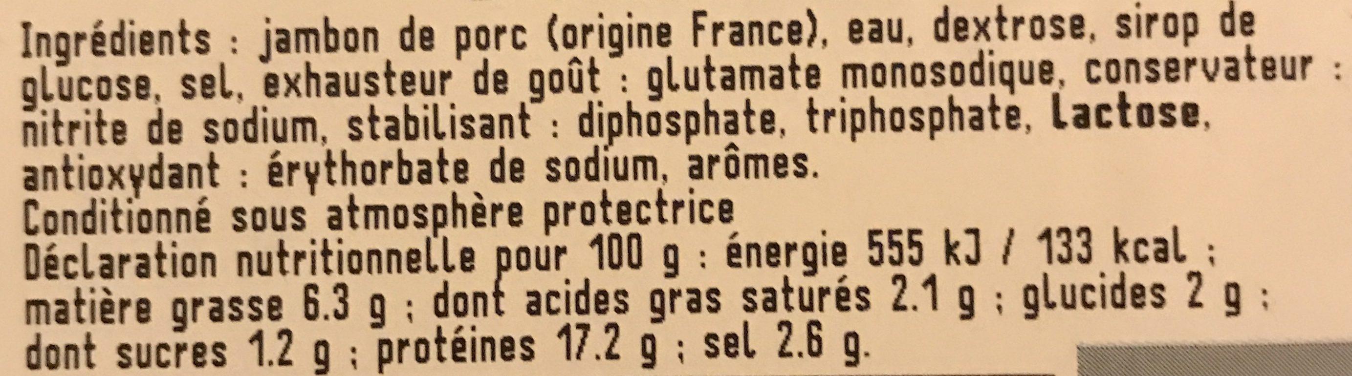 Jambon cuit choix - Ingrediënten - fr