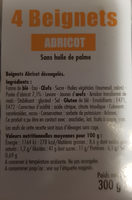 BEIGNETS ABRICOT - Ingredients - fr