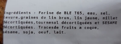 baguette logagraines - Ingredienti - fr