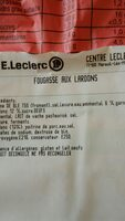 Fougasse aux lardons - Ingredients - fr