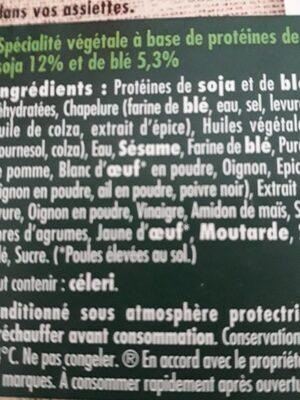 Nuggets soja et ble - Ingrédients