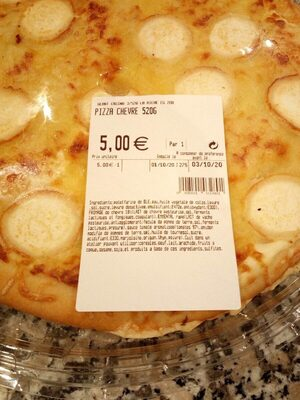 Pizza chevre - 产品 - fr