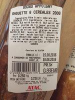 Baguette 6 céréales - Product - fr