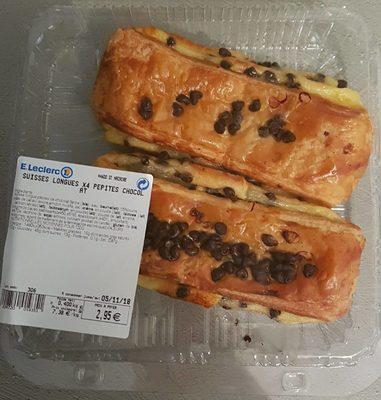 Suisses longues x4 pépites chocolat - Produit