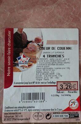 Jambon cuit supérieur cœur de couenne - Product