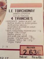 Le torchonay - Informations nutritionnelles - fr