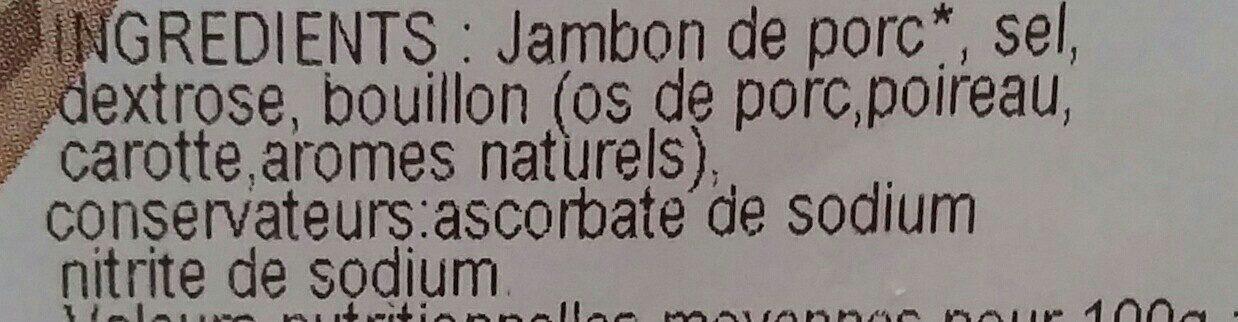 Jambon supérieur cuit au torchon - Ingrédients - fr