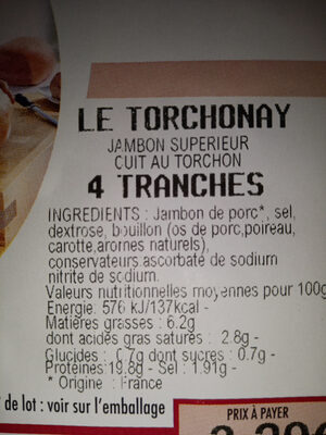 le torchonay - Ingredients - fr