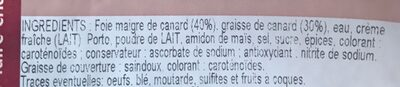 Mousse pur canard - Ingredients - fr