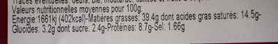 Mousse pur canard - Nutrition facts - fr