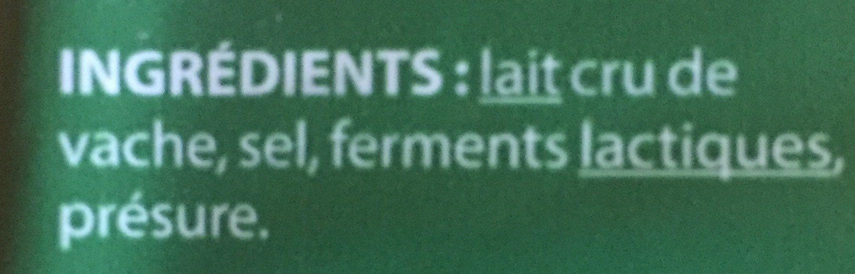 Conté - Ingrédients