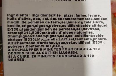 Pizza 4 saisons - Ingrédients - fr