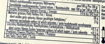 Le  Rochebaron - Informations nutritionnelles