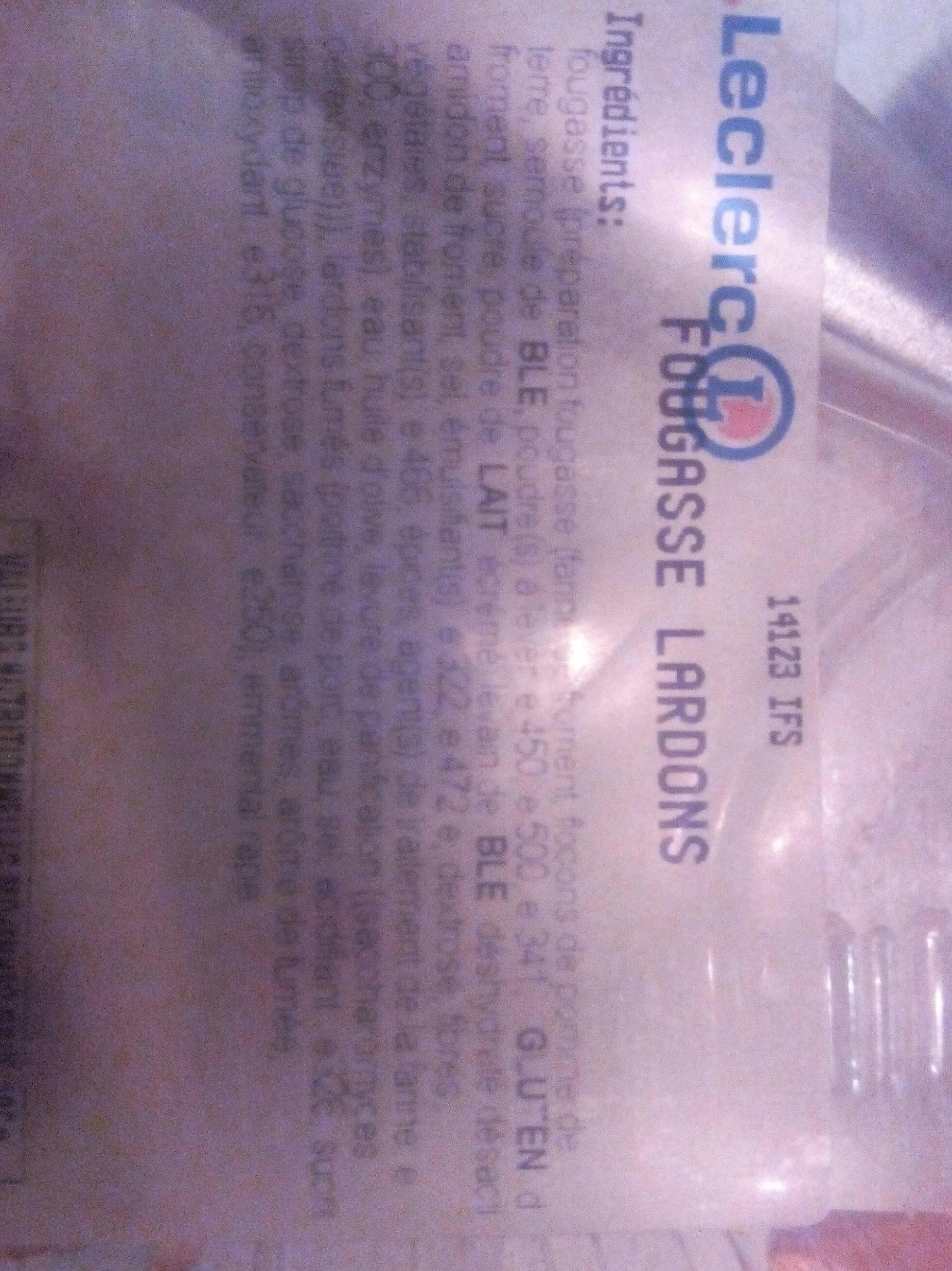 Fougasse Lardons - Ingredients - fr