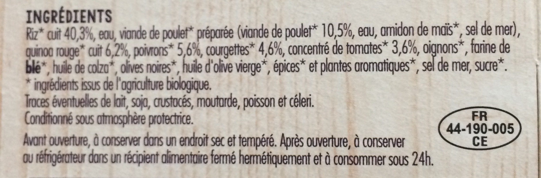 Poulet basquaise - Ingrediënten - fr