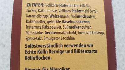 Schoko Hafer-Müsli - Ingredienti - en