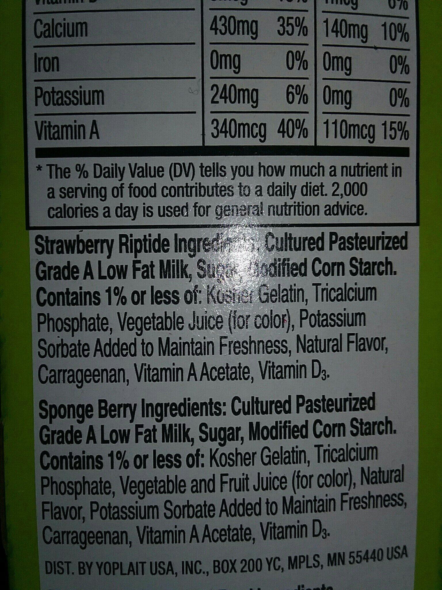 gogurt - Ingredients