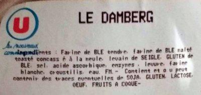 Le Damberg - Ingrediënten