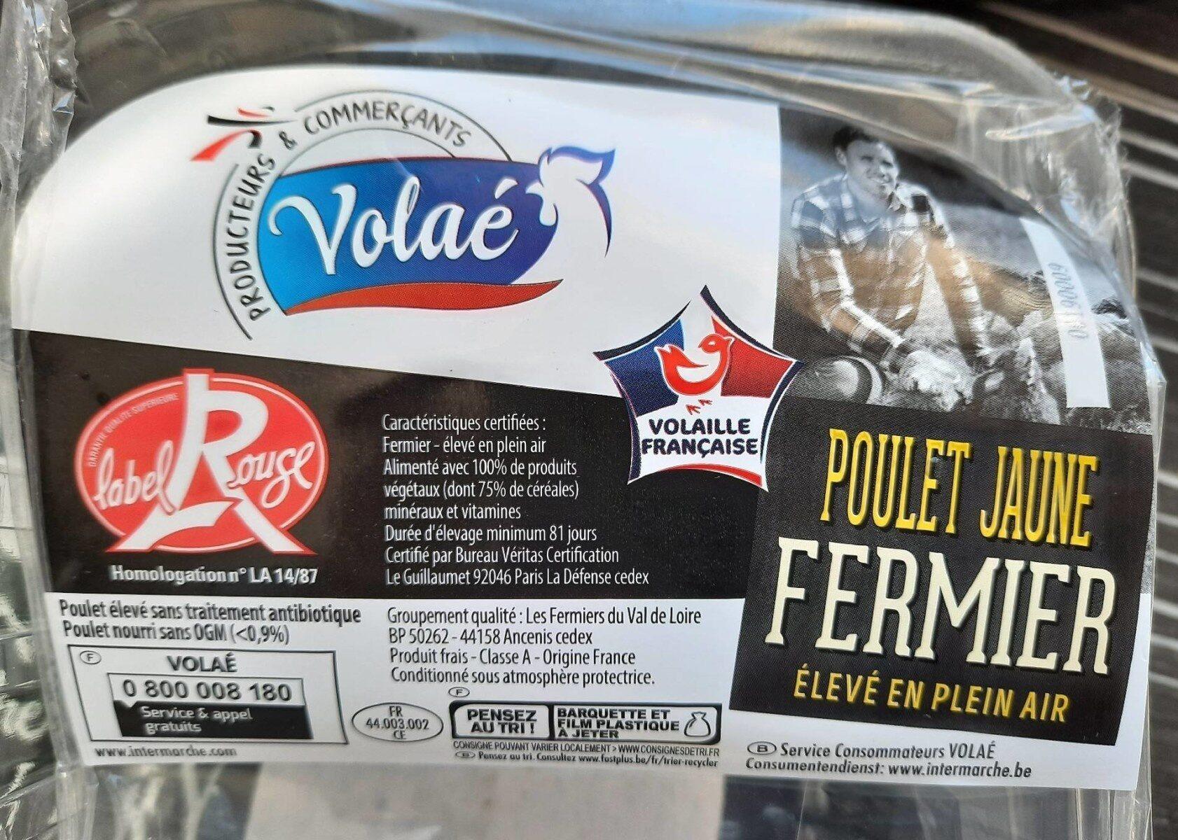 Poulet jaune fermier élevé en plein air label rouge - Prodotto - fr