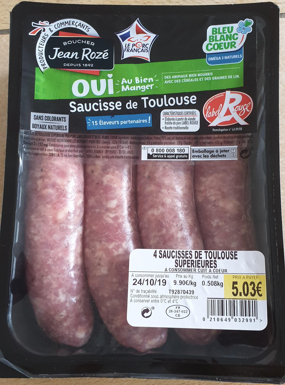4 saucisses de Toulouse supérieures - Product