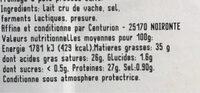Compté - Valori nutrizionali - fr