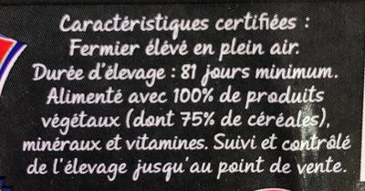 Filets de poulet fermier jaune label rouge - Ingredients - fr