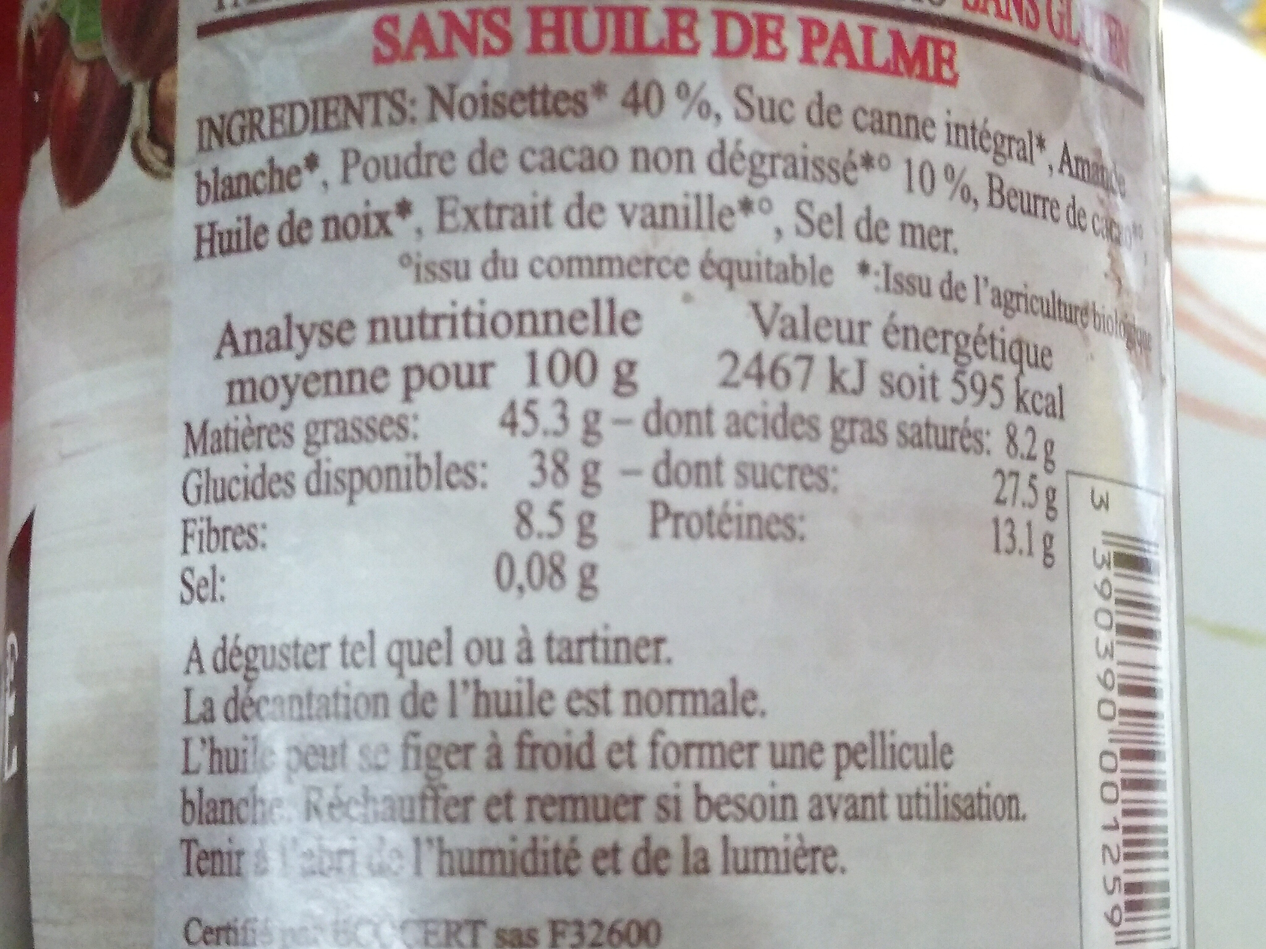 - Nutrition facts - fr