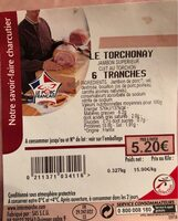 Le torchonay - Nutrition facts