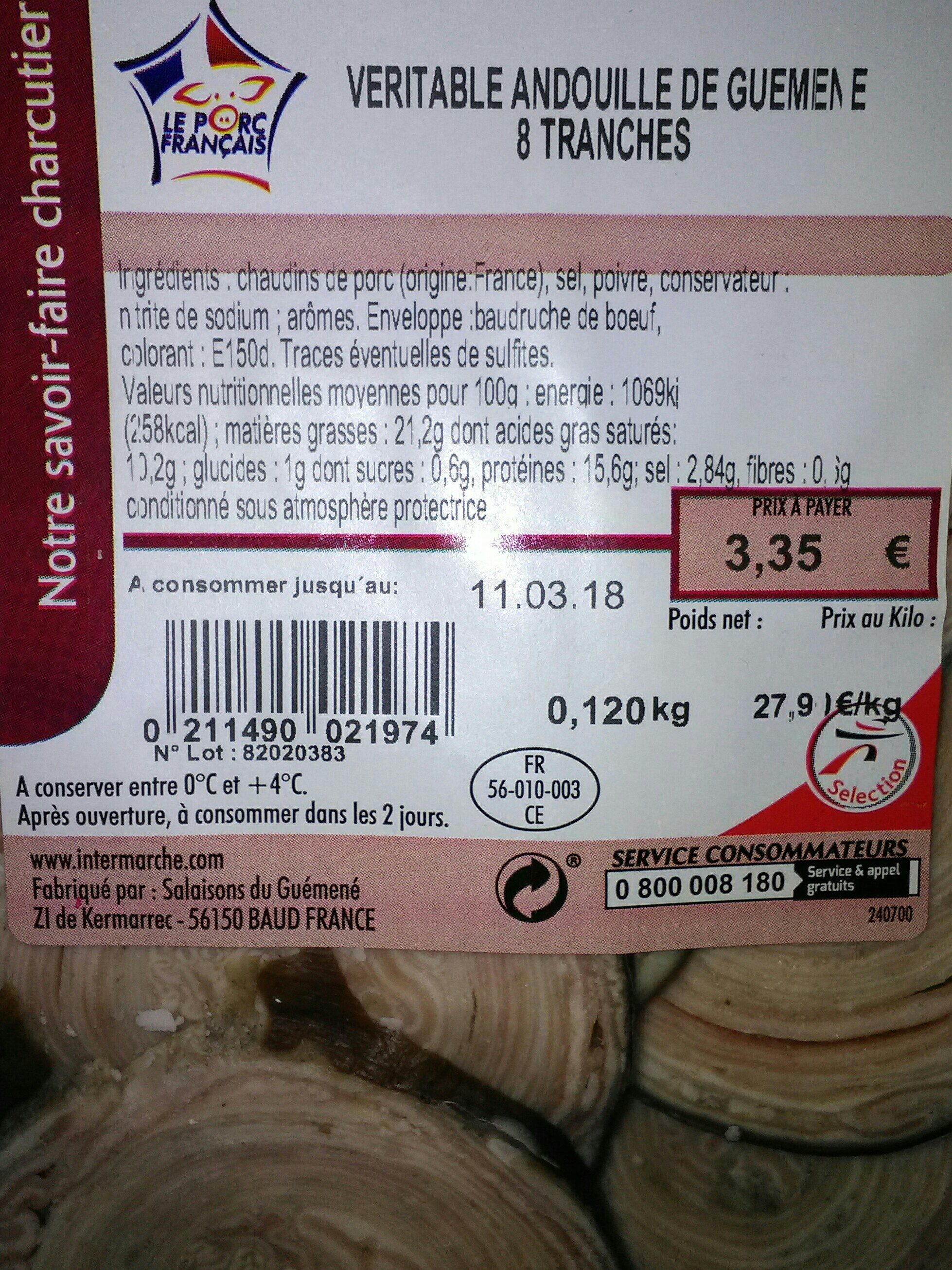 Véritable andouille de guémené - Ingrediënten