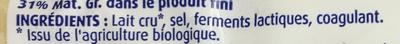 Emmental au lait cru - Ingrédients - fr