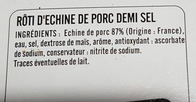 Roti echine demi-sel - Ingrediënten