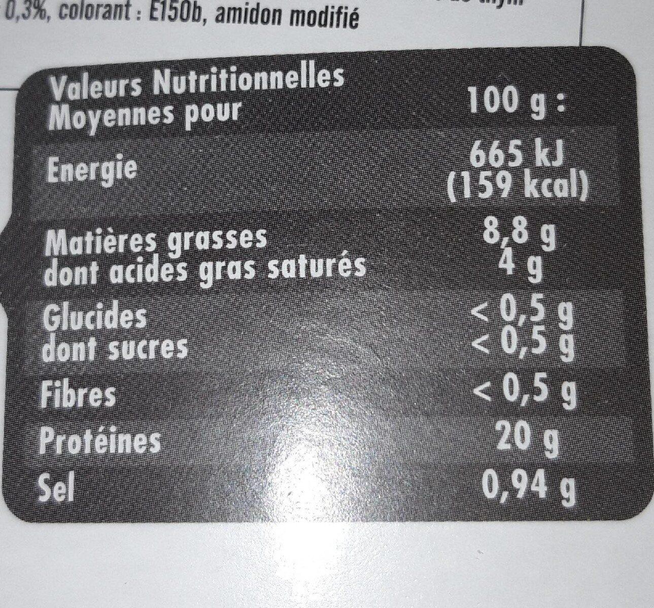 Souris d'agneau dorée au four - Nutrition facts