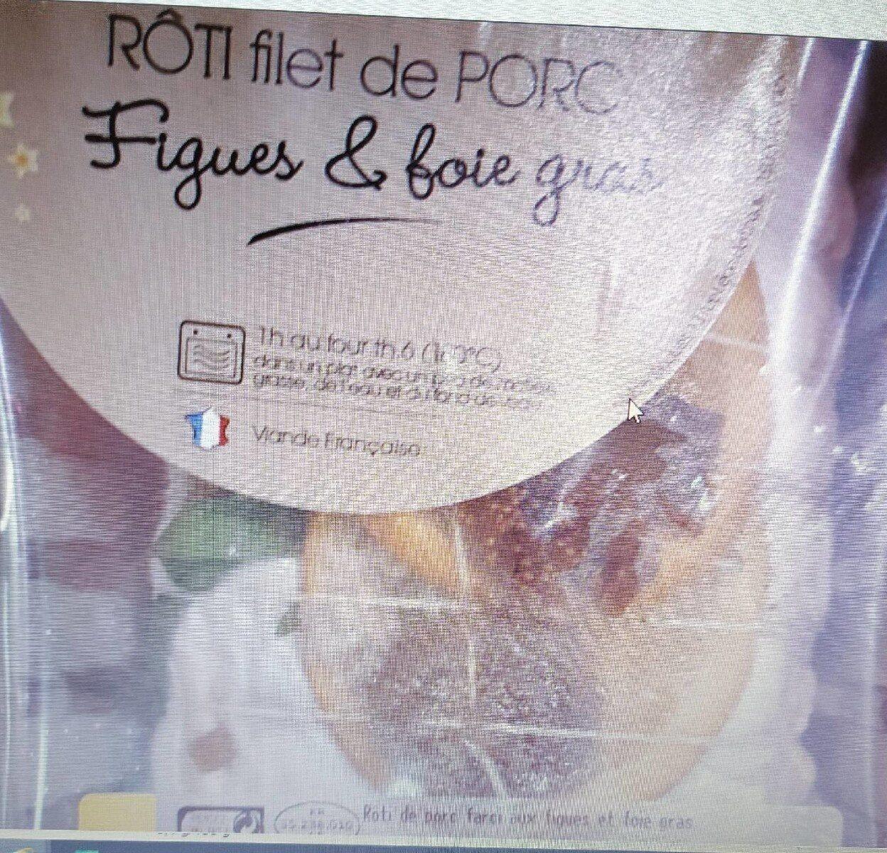 Rôti de porc foie gras figues - Product - fr