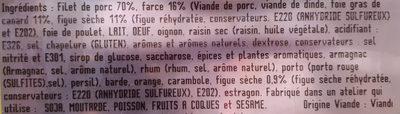 Rôti de porc foie gras figues - Ingredients - fr