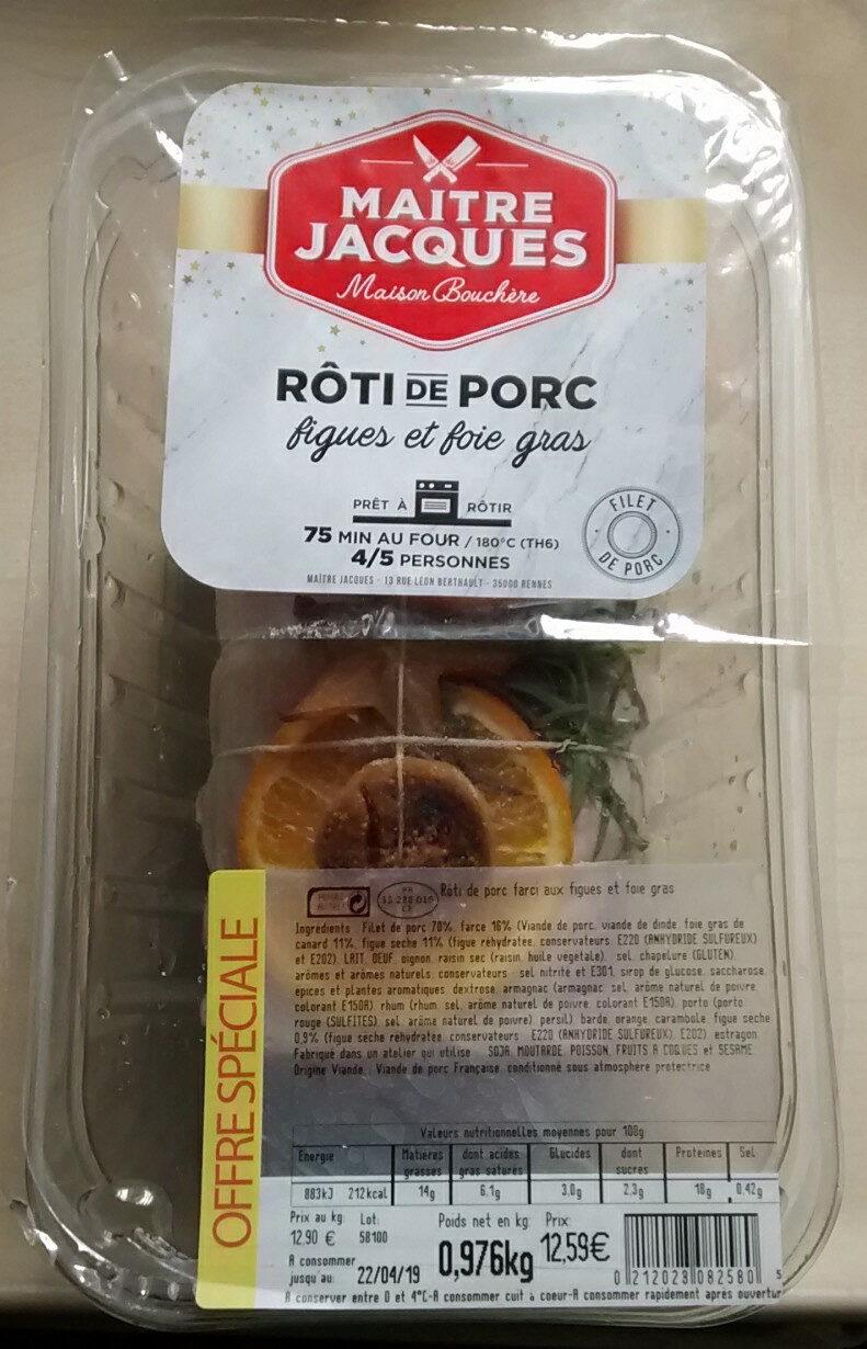 Rôti de porc figues et foie gras - Product