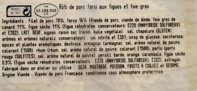 Rôti de porc figues et foie gras - Ingrediënten