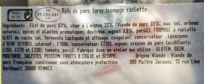 Rôti de porc à la Savoyarde - Ingredients - fr