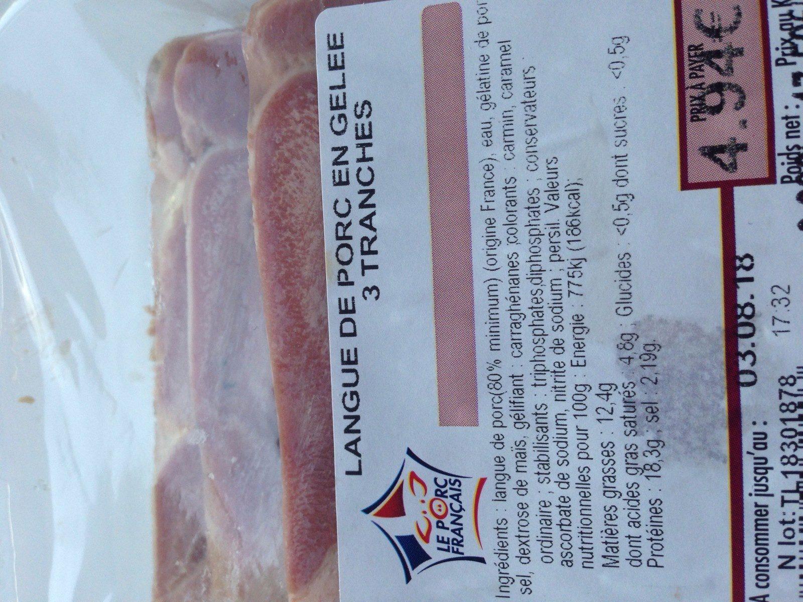 Langue de porc en gelee - Ingredients - fr