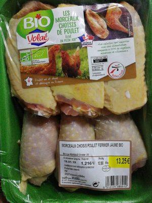 Morceaux poulet fermier jaune Bio - Product - fr