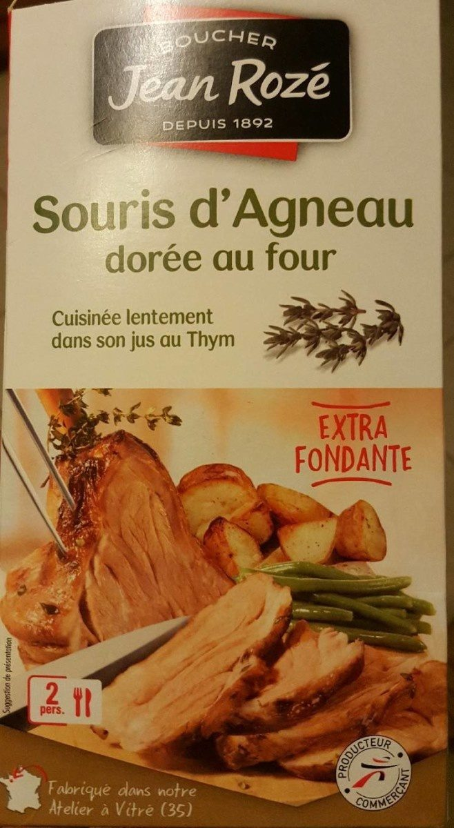 Souris d'Agneau Dorée au Four - Produit - fr