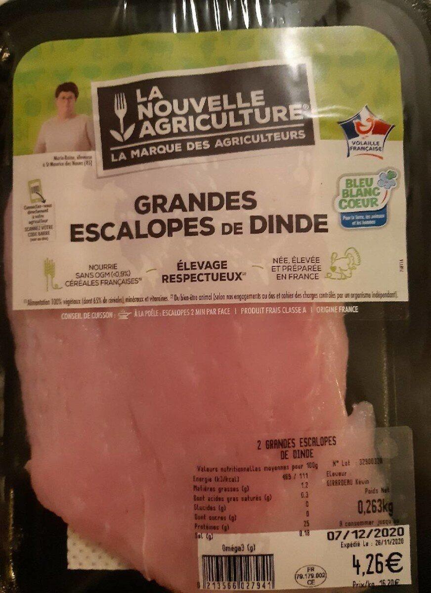 Grandes escalopes de dinde - Produto - fr